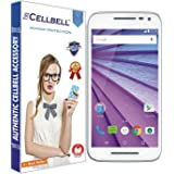 Cellbell Premium Moto G Turbo Edition / Motorola Moto G 3rd Generation (Moto G3) (Clear) Tempered Glass Screen Protector complimentary Prep cloth)/Bronze Edition