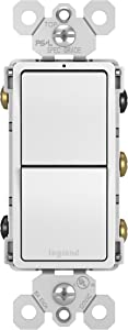 Legrand radiant 15 Amp Combination Switches, Rocker Wall Light Switch, White, 2 3-Way Switches, RCD33WCC6
