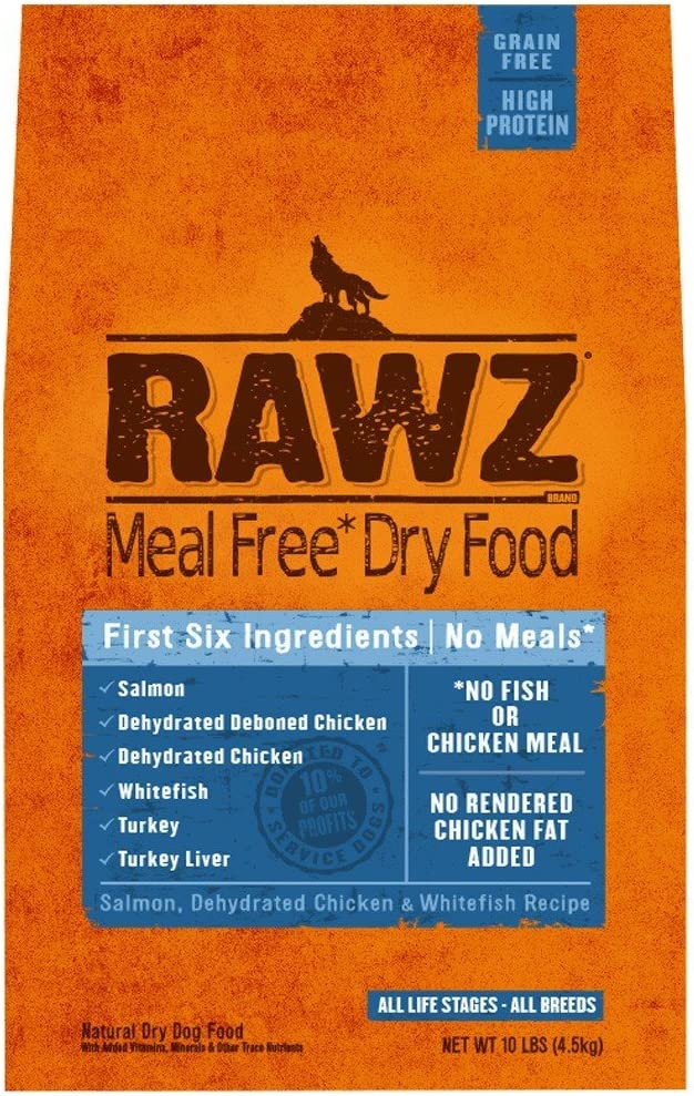 Rawzreg; Meal Free Dry Dog Food Salmon, Dehydrated Chicken Whitefish Recipe (10 Lb)