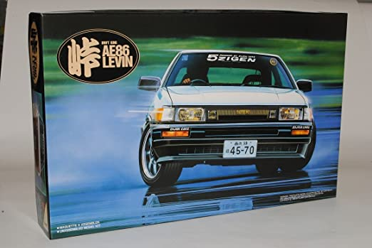 Fujimi Toyota Corolla Coupe Levin AE86 T/ürer Weiss 1983-1987 Kit Bausatz 1//24 Modell Auto mit individiuellem Wunschkennzeichen