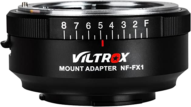 VILTROX NF-FX1 Lens Mount Adapter Manual Focus for Nikon G/&D-Mount Series Lens to Fuji X-Mount Mirrorless Camera with Adjustable Aperture