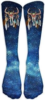 UYTGYUHIOJ Boho Skull Dream Catcher Casual Unisex Sock Knee Long High Socks Sport Athletic Crew Socks One Size