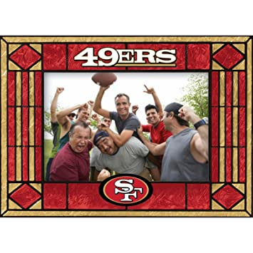 Amazon.com : San Francisco 49ers Art Glass Horizontal Frame : Sf ...