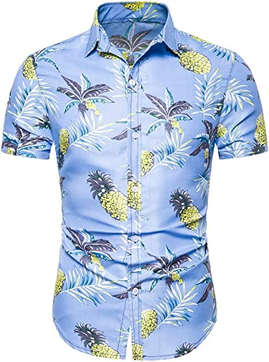 YOCheerful Mens Fashion Tops Print Short Sleeve Casual T-Shirts Loose Tops Summer Blouses