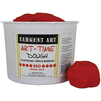 Sargent Art 85-3320 3-Pound Art-Time Dough, Red: Arts, Crafts & Sewing