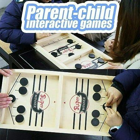 Ezreal 2in1 Fast Sling Puck Game Paced SlingPuck Winner Juego de Mesa Juguetes Juego Adult Kid, Juegos de Mesa portátiles para niños y familias (1 PCS): Amazon.es: Hogar