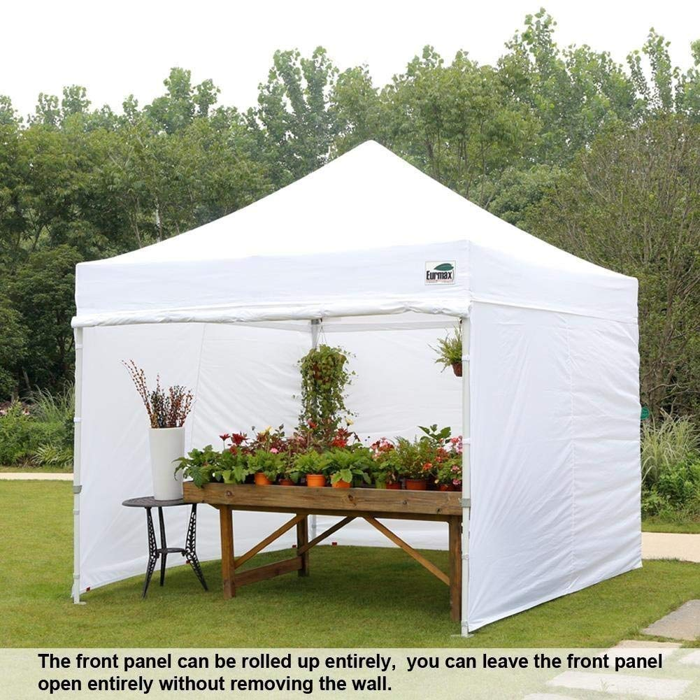 Eurmax 10'x10' Ez Pop Tent Commercial Instant Canopies with 4 Removable Zipper End Side Walls and Roller Bag Bonus 4 SandBags Weight, 1-White by Eurmax (Image #8)