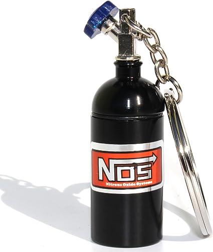 Negro VmG-Store Mini Nos /óxido de nitr/ógeno Botella para Llavero Tapa abschraubbar