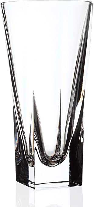 Vase Lead Free Crystalline 9  Height Made in Europe European Glass Barski
