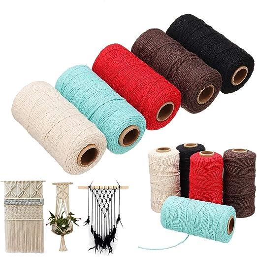 TOPWA de 5 cordones macramé algodón para manualidades cuerda ...