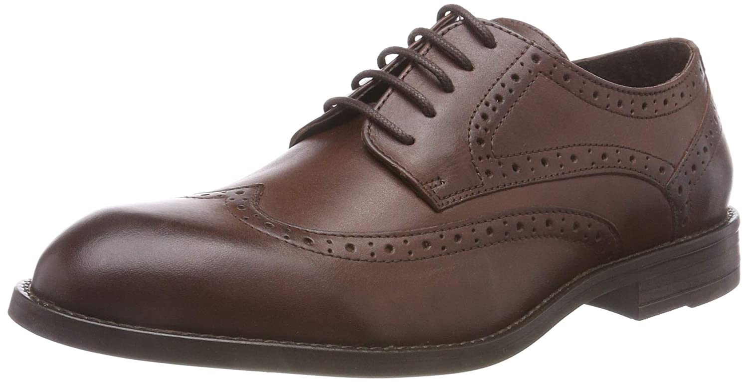 Bianco Broque Dress Derby, Zapatos de Cordones Brogue para Hombre