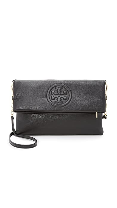 f09652437888 Tory Burch Bombe Fold-Over Clutch Bag Black  Amazon.ca  Shoes   Handbags