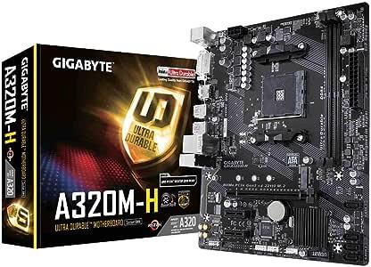 Gigabyte A320M-HDVR4 Socket AM4, DDR4 3200MHz+(OC), Ultra M.2, USB 3.1 Gen1, HDMI, DVI, VGA mATX Anakart (Ryzen 3000 Serisi Uyumlu Versiyon)