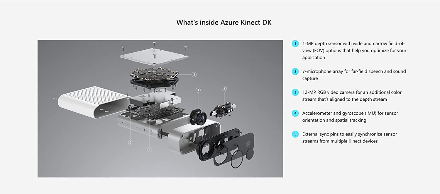 Amazon com: Azure Kinect DK Developer Kit: Video Games