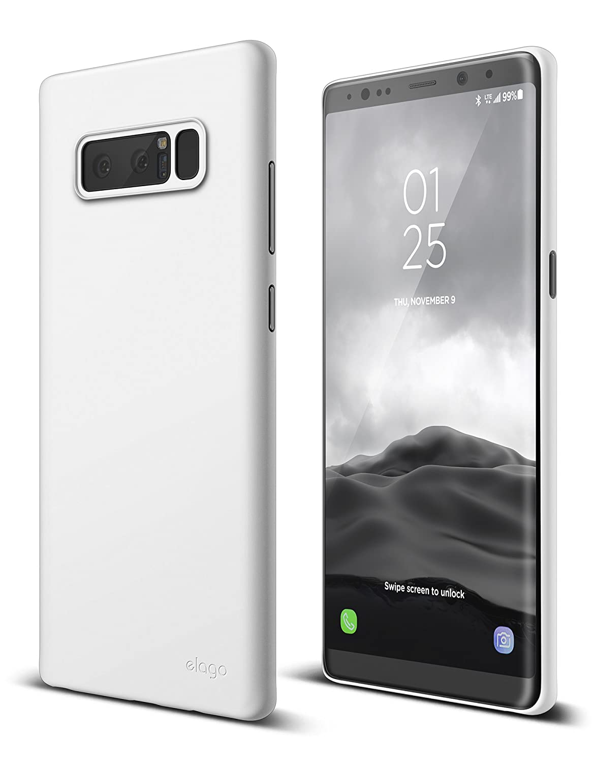 cheaper 7c9d7 75754 elago Galaxy Note 8 Case [Origin][White] - [Device Fitting  Tested][Minimalistic][Scratch Protection Only][True Fit] - for Samsung  Galaxy Note 8