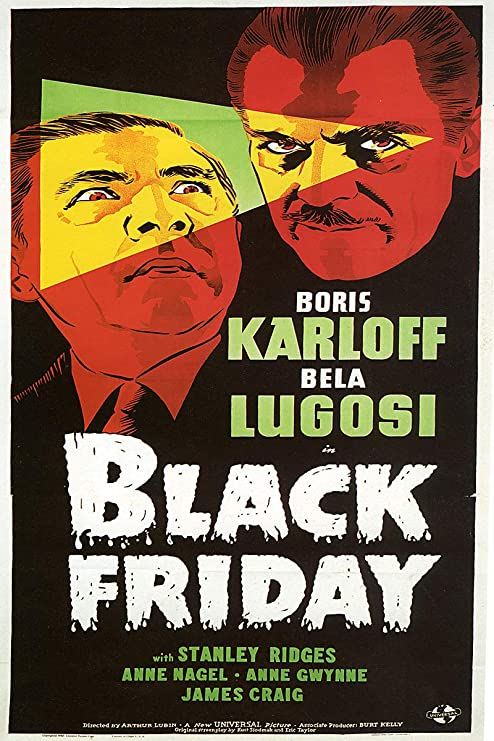 1934 The Black Cat Bela Lugosi  Boris Karloff Horror movie poster 24x36 inches
