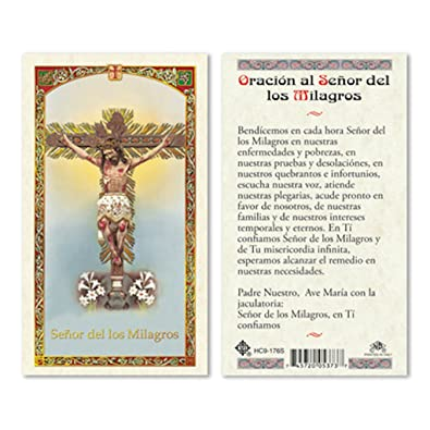Amazon.com: Español HC Senor Milagros tarjetas de oración ...