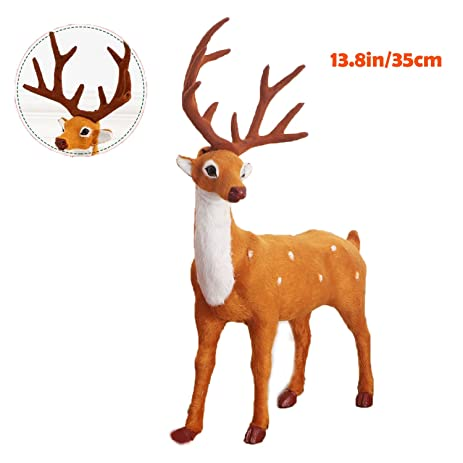 reindeer christmas decorations deer christmas elk props plush simulation christmas tree decoration indoor outdoor decor yard - Indoor Christmas Reindeer Decorations
