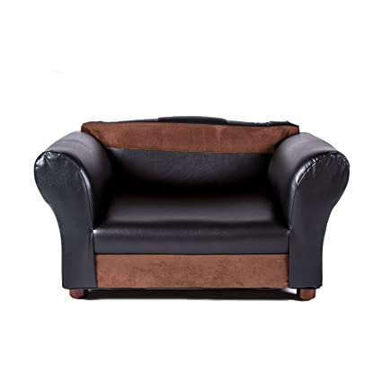 Amazoncom Mini Sofa Black and Brown Pet Bed Mini Sofa Leather