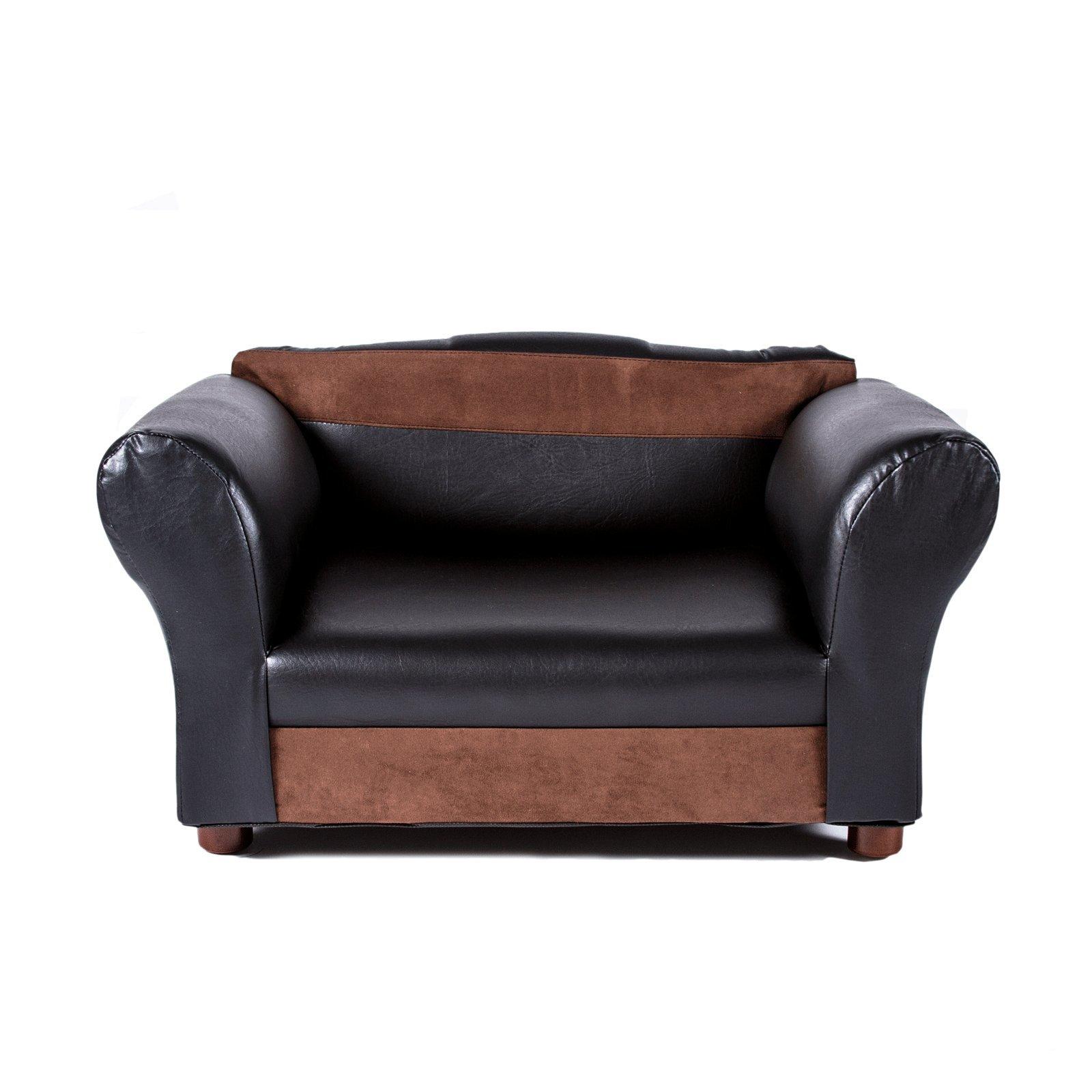 Keet Mini Sofa Black and Brown Pet Bed