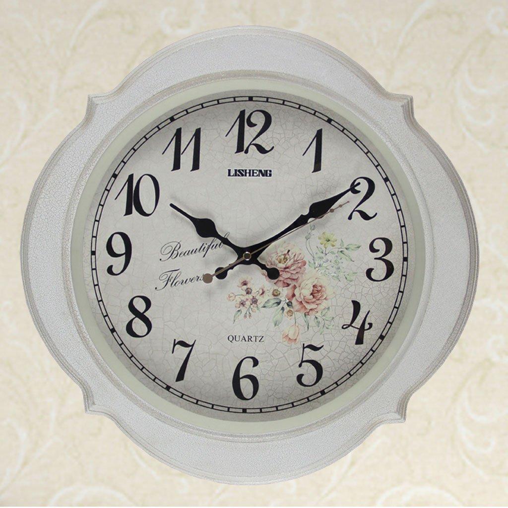 ヨーロッパスタイルのシンプルな家庭のリビングルームサイレント装飾的な壁時計 B07DGQBZGK