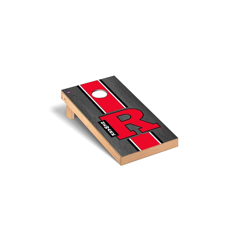 Rutgers ScarletニューアークRaiders Cornhole Game SetオニキスStainedストライプバージョン B0178MNP9K