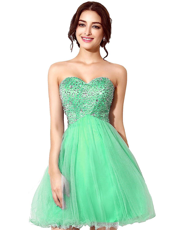 Clearbridal Short V-Neck Homecoming Dress for Junior Rose Gold Prom Dresses Party Dress 2019