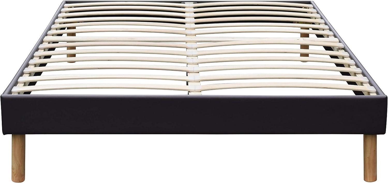 Pieds en 20 cm pour Matelas en 80x190-13 Lattes Montage Rapide et Facile Solide et Confortable Sommier Tapissier Blanc King of Dreams Gregory revetement PVC Facile dentretien