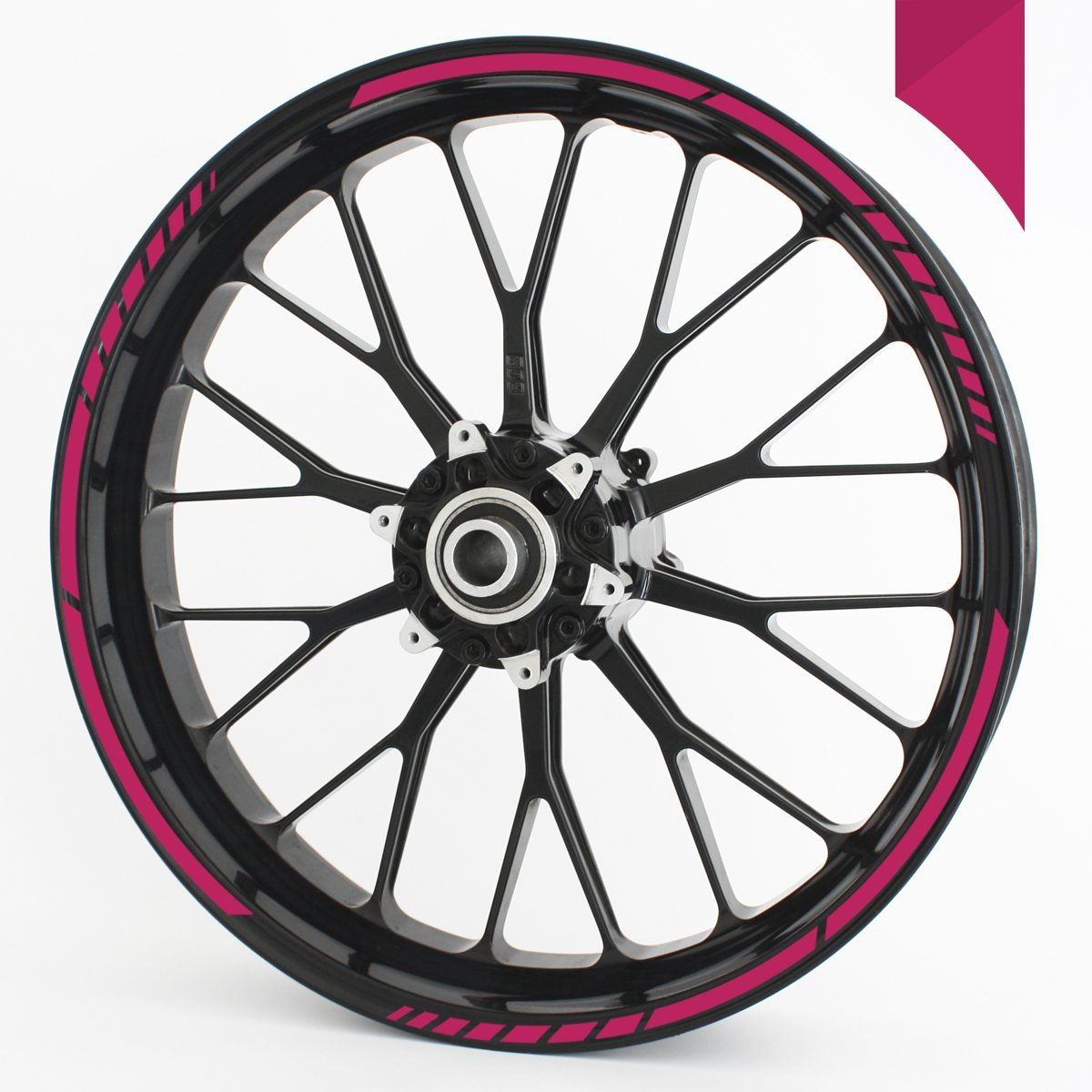 18 and 19 Motorcycle /& Car Wheels 17 PINK Wandkings GP wheel rim sticker for 15 colour selectable 16