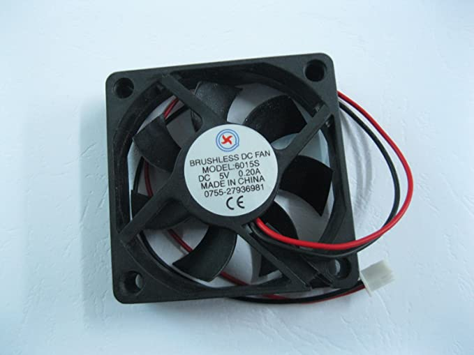 1 x Brushless DC Cooling Fan 60x60x15mm 6015 9 blades 5V 0.2A 2pin Connector