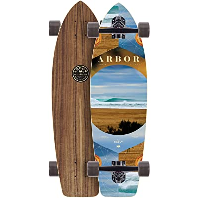 Arbor Rally Walnut 2020 Complete Longboard Skateboard New Premium Setup : Sports & Outdoors