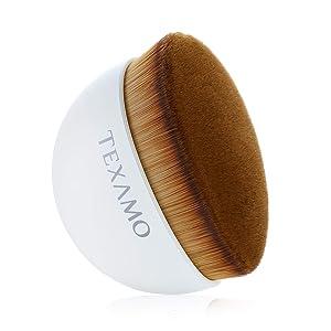 TEXAMO Flawless Brush, Foundation Brush Flat Top Kabuki Makeup for Face, Blending Liquid Cream Powder Brush, Momma Brush with Case, White