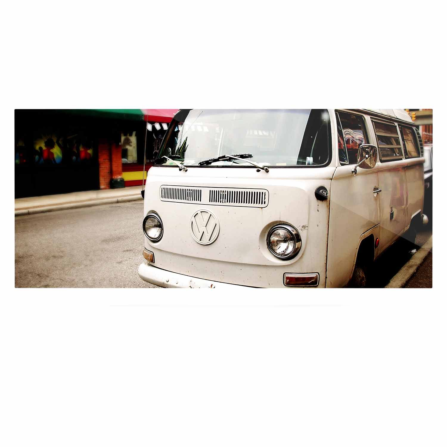 Kess InHouse Angie Turner VW Bus White Vintage Luxe Rectangle Panel 24 x 36