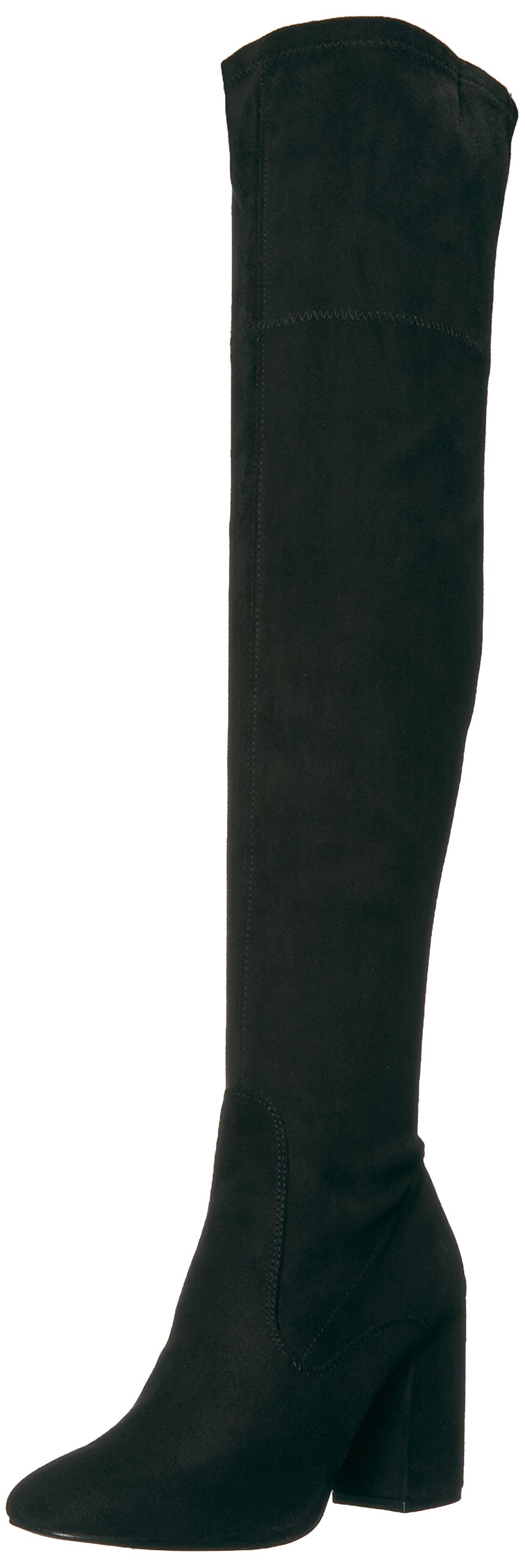 Kenneth Cole New York Women's Carah Knee High Tall Stretch Engineer Boot, Black, 7.5 M US