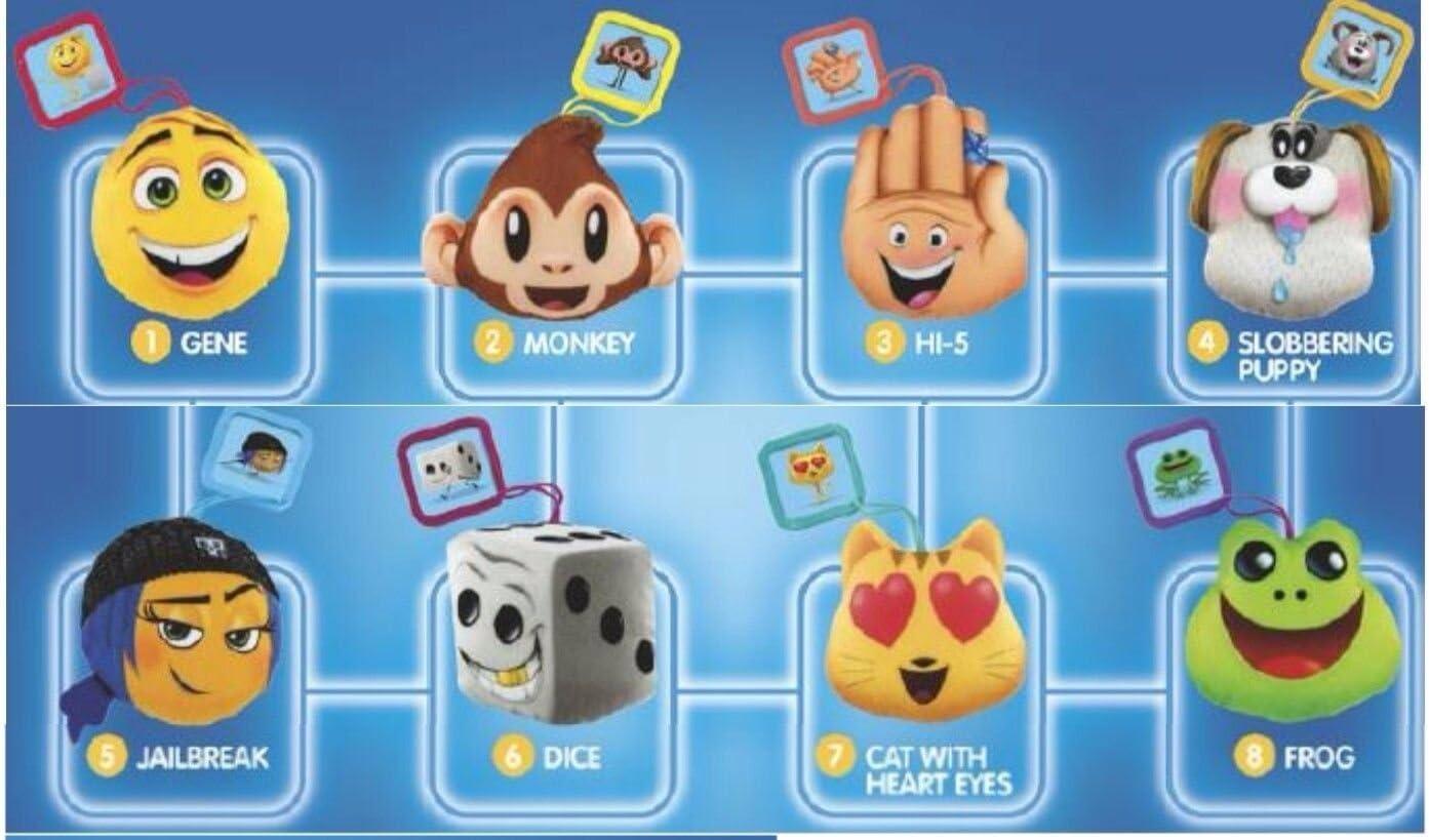 Amazon Com Mcdonalds 2017 The Emoji Movie Complete Set Of 8 Toys Games