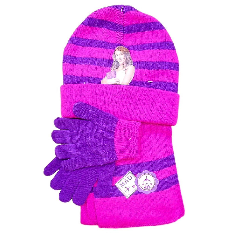Disney Violetta Mütze, Schal und Handschuhe SET Pink/Lila