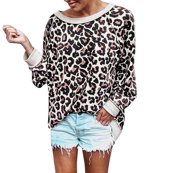 Ropa Camisetas Mujer, Estampado de Leopardo Blusa para Mujer Camisetas Mujer Camisas Mujer Tops Tallas Grandes Mujer: Amazon.es: Ropa y accesorios