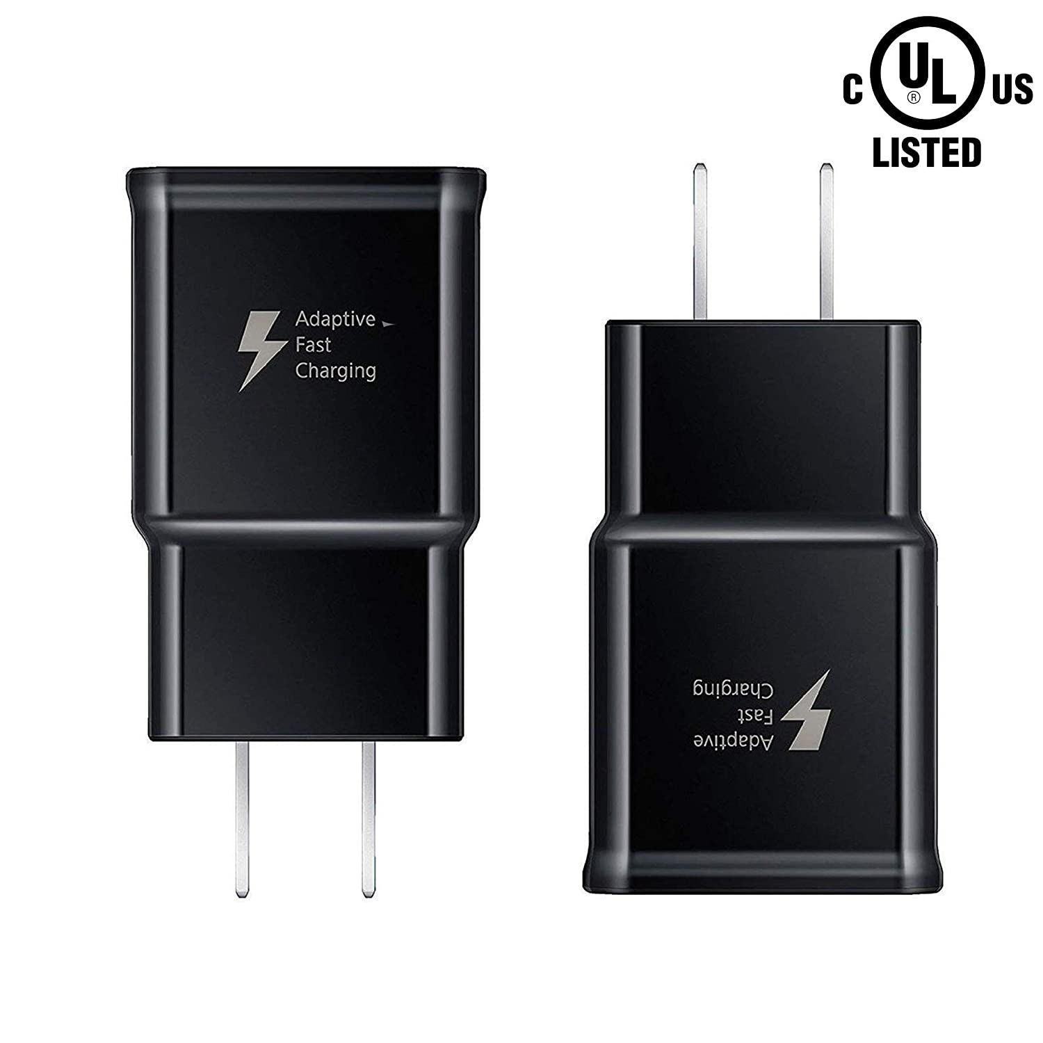 Pantom [2-Pack] Adaptive Fast Charging Rapid Quick Charge Wall Charger Compatible with Samsung Galaxy S10/S10+/S9/S9+/S8/S8+ Note 8/Note 9 & Other ...