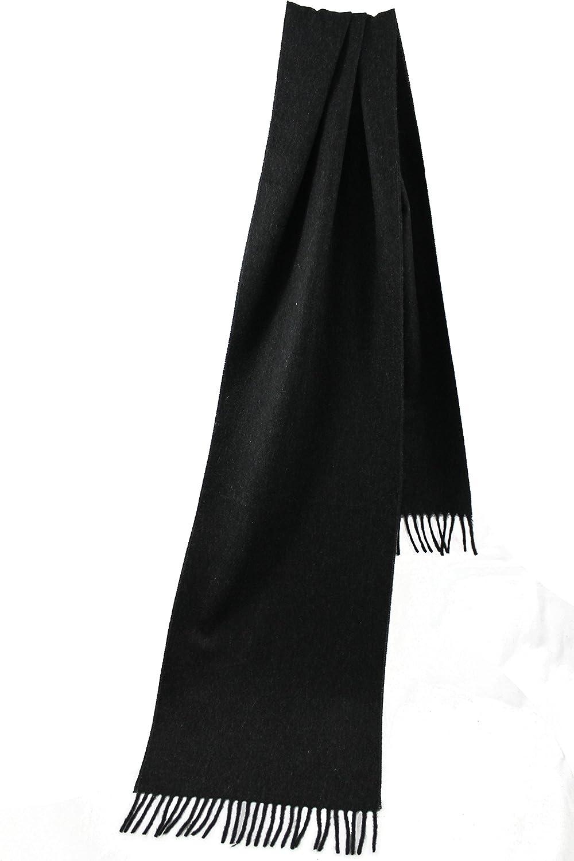 Hombre Rotfuchs Sciarpa tessuta Uni elegante grigio 100% cashmere R147