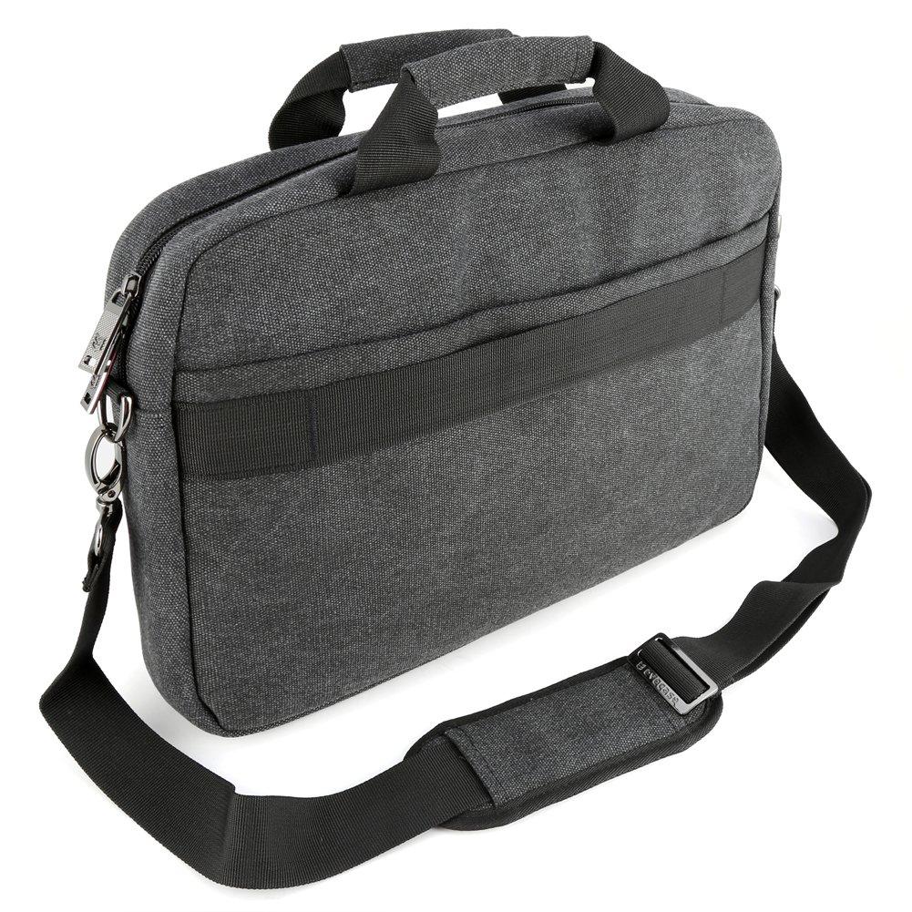 13.3 inch Laptop Messenger Bag, Evecase 13.3'' - 14'' Canvas Messenger Bag - Dark Grey w/Handles, Shoulder Strap for laptops, Samsung ultrabooks, Apple MacBook, Microsoft, Sony Tablet PC by Evecase (Image #9)