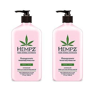 Amazon.com: Hempz Hidratante corporal de granada, Rosado ...