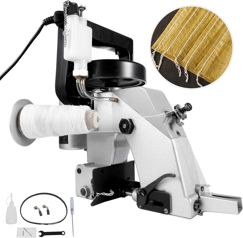 VEVOR Máquina de coser eléctrica portátil de 110 V, 90 W, excelente máquina de coser de nivel duradero para bolsa de piel de serpiente (máquina de cierre de bolsa)