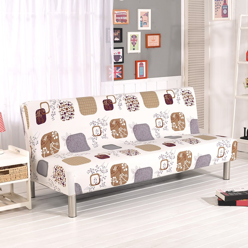 Printed Stretch Couch Loveseat Chair Cover Sofa Slipcovers Protector No Armrest Sofa Slipcovers Feileng