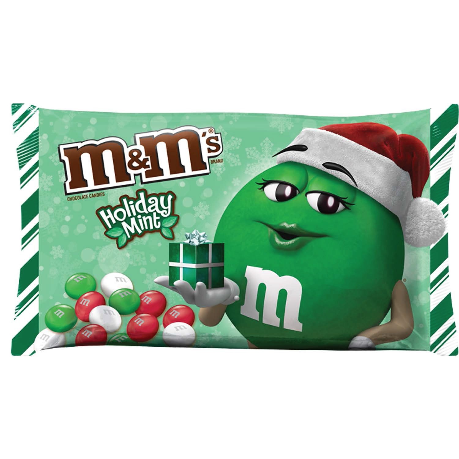 M&M'S Christmas Mint Chocolate Candy 9.9-Ounce Bag