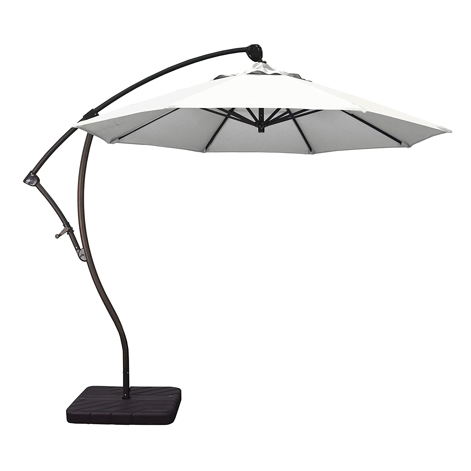 Phat Tommy 9 Ft Cantilever Offset Aluminum Market Patio Umbrella with Tilt for Shade and Outdoor Living