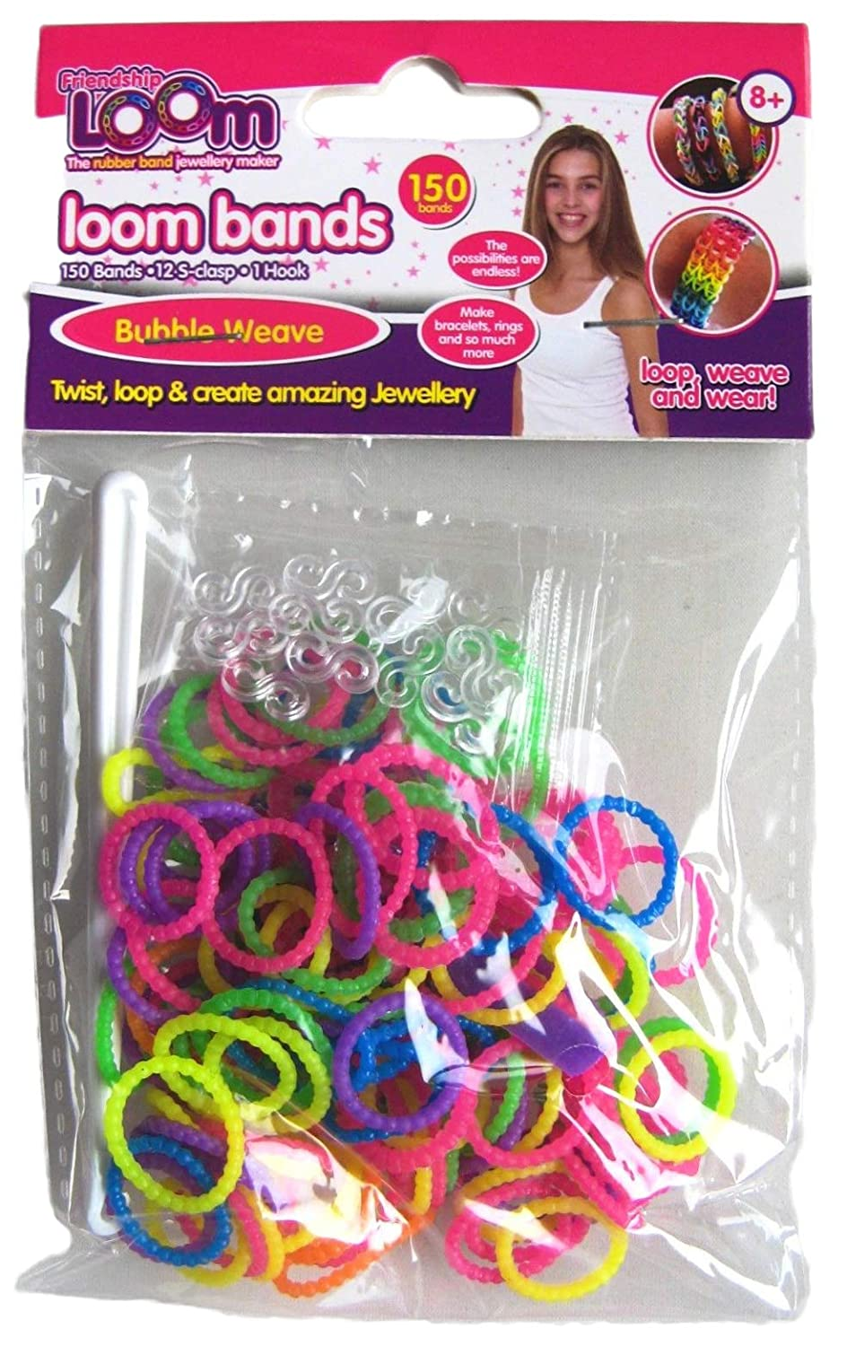 Friendship Loom Bands Jewellery Making - 150 Bubble Weave Bands HL376 Toy