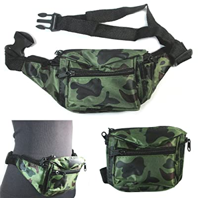 12 Camo Fanny Pack Travel Utility Bag Waist Pouch Belt Adjustable 4 Pocket Sport