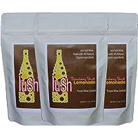 Lush Wine Mix - Organic Mix for Wine Slushies & Simple Syrup Cocktails (Strawberry Basil Lemonade, 3-Pack)