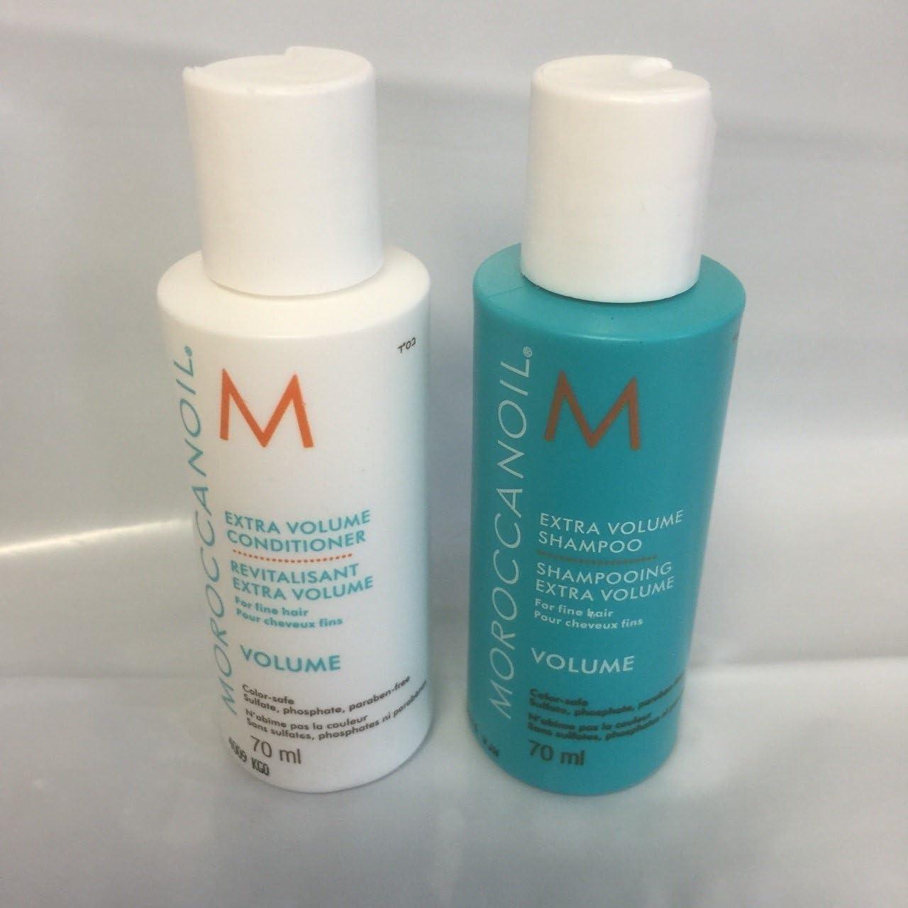 Moroccanoil volumen extra champú y acondicionador Duo botellas de viaje/Pack de prueba (70ml): Amazon.es: Belleza