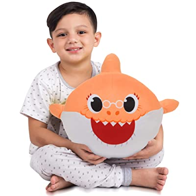 Franco Kids Bedding Soft Plush Cuddle Pillow Buddy, One Size, Baby Shark Orange Grandma: Industrial & Scientific